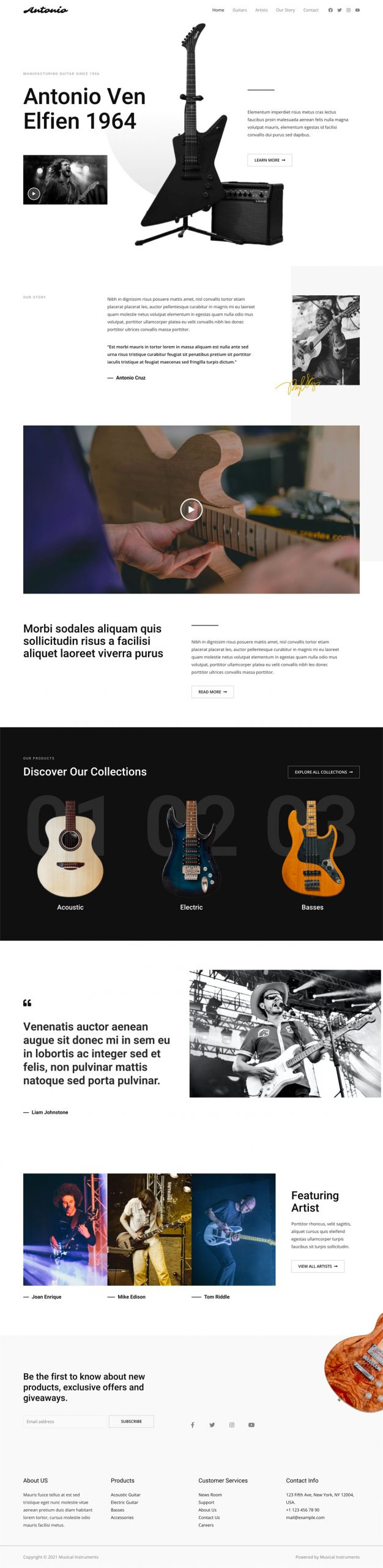 low cost websites pick a music website with guitars